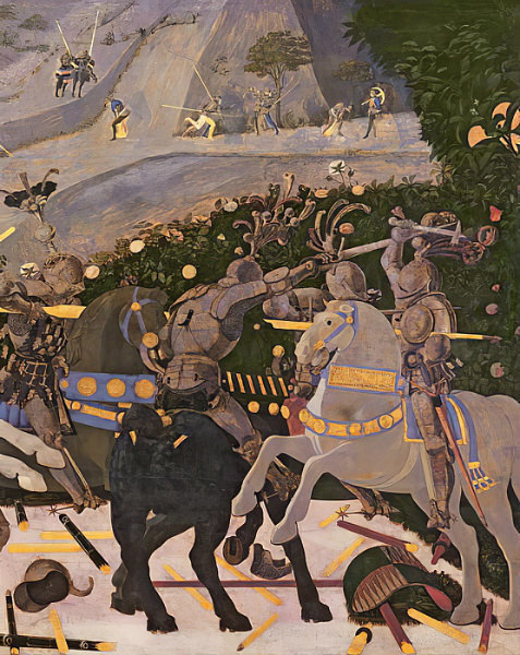 14-1-Paolo Uccello - The Battle of San Romano c1450-60 tempera on panel .jpg