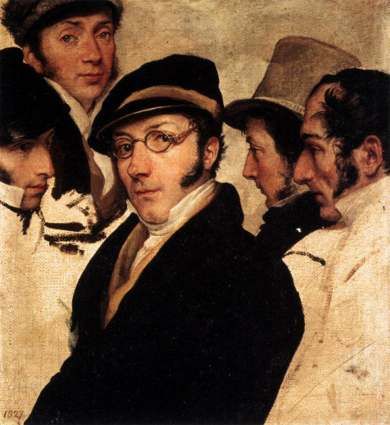 3-Francesco_Hayez_-_Self-Portrait_in_a_Group_of_Friends_-(1824); olio su tela, 32,5×29,5 cm_WGA11210.jpg